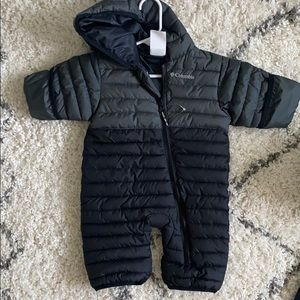BNWOT 0-3 month Columbia down snow outfit